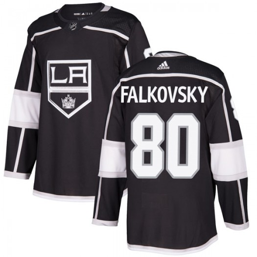 Stepan Falkovsky Los Angeles Kings Youth Adidas Authentic Black Home Jersey