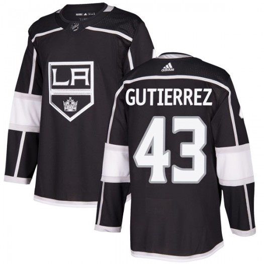 Justin Gutierrez Los Angeles Kings Youth Adidas Authentic Black Home Jersey