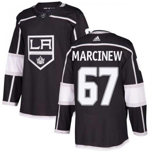 Matt Marcinew Los Angeles Kings Youth Adidas Authentic Black Home Jersey
