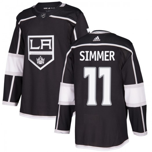 Charlie Simmer Los Angeles Kings Youth Adidas Authentic Black Home Jersey
