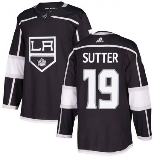 Brett Sutter Los Angeles Kings Youth Adidas Authentic Black Home Jersey