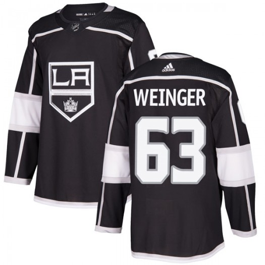 Evan Weinger Los Angeles Kings Youth Adidas Authentic Black Home Jersey