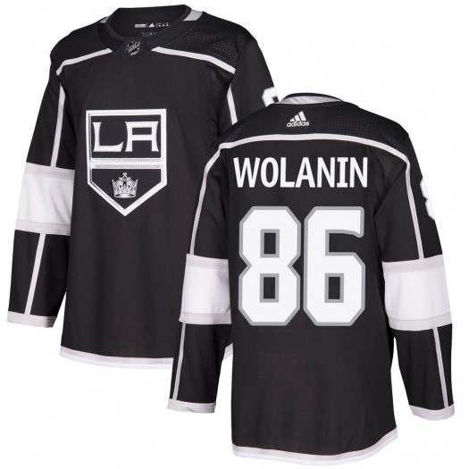 Christian Wolanin Los Angeles Kings Youth Adidas Authentic Black Home Jersey