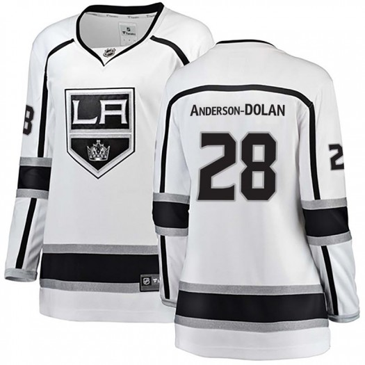 Jaret Anderson-Dolan Los Angeles Kings Women's Fanatics Branded White Breakaway Away Jersey