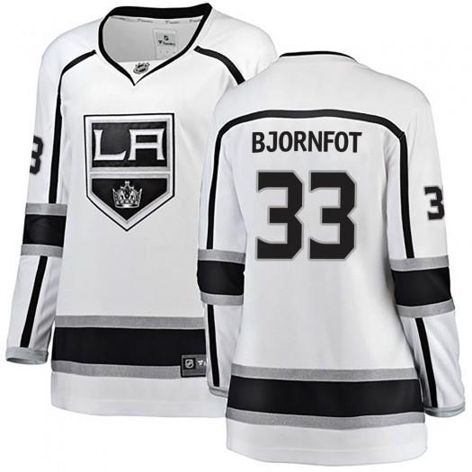 Tobias Bjornfot Los Angeles Kings Women's Fanatics Branded White Breakaway Away Jersey