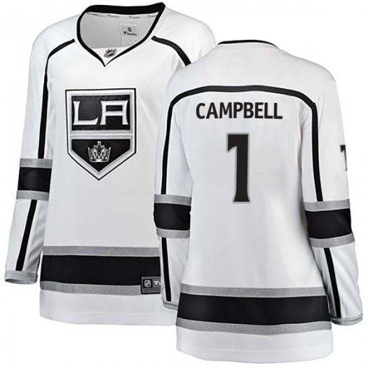 Jack Campbell Los Angeles Kings Women's Fanatics Branded White Breakaway Away Jersey