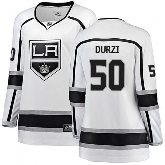 Sean Durzi Los Angeles Kings Women's Fanatics Branded White Breakaway Away Jersey