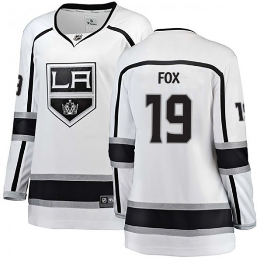 Jim Fox Los Angeles Kings Women's Fanatics Branded White Breakaway Away Jersey
