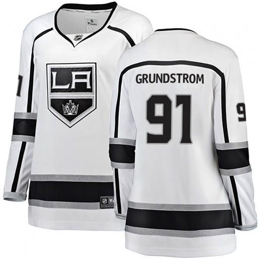 Carl Grundstrom Los Angeles Kings Women's Fanatics Branded White Breakaway Away Jersey