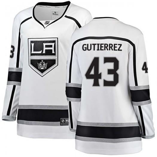 Justin Gutierrez Los Angeles Kings Women's Fanatics Branded White Breakaway Away Jersey
