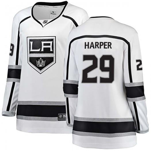Shane Harper Los Angeles Kings Women's Fanatics Branded White Breakaway Away Jersey