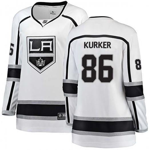 Sam Kurker Los Angeles Kings Women's Fanatics Branded White Breakaway Away Jersey