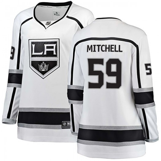 Zack Mitchell Los Angeles Kings Women's Fanatics Branded White Breakaway Away Jersey
