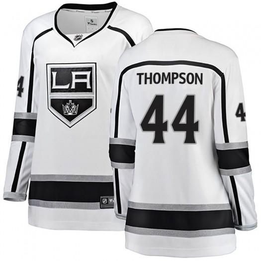 Nate Thompson Los Angeles Kings Women's Fanatics Branded White Breakaway Away Jersey
