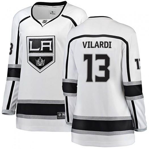 Gabriel Vilardi Los Angeles Kings Women's Fanatics Branded White Breakaway Away Jersey