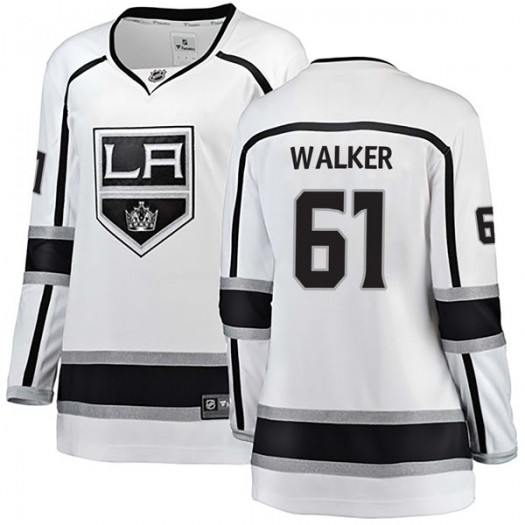 Sean Walker Los Angeles Kings Women's Fanatics Branded White Breakaway Away Jersey