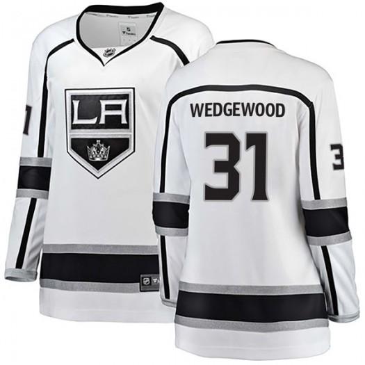 Scott Wedgewood Los Angeles Kings Women's Fanatics Branded White Breakaway Away Jersey