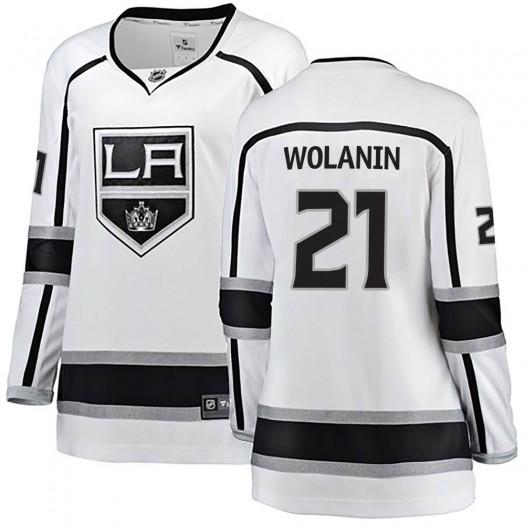 Christian Wolanin Los Angeles Kings Women's Fanatics Branded White Breakaway Away Jersey