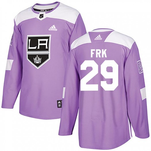 Martin Frk Los Angeles Kings Men's Adidas Authentic Purple Fights Cancer Practice Jersey