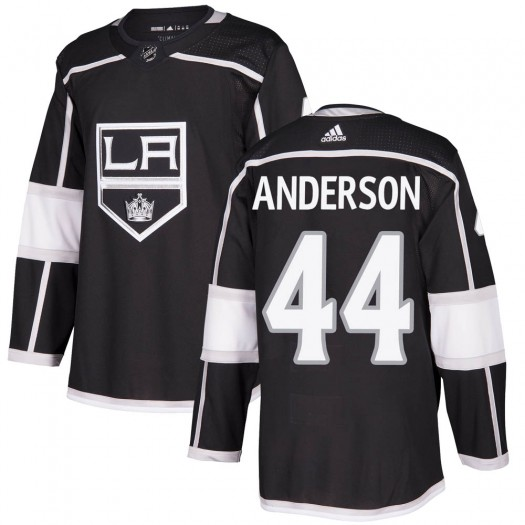 Mikey Anderson Los Angeles Kings Men's Adidas Authentic Black ized Home Jersey