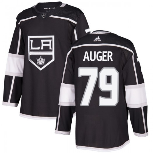 Justin Auger Los Angeles Kings Men's Adidas Authentic Black Home Jersey