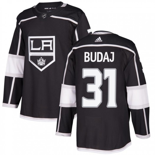 Peter Budaj Los Angeles Kings Men's Adidas Authentic Black Home Jersey