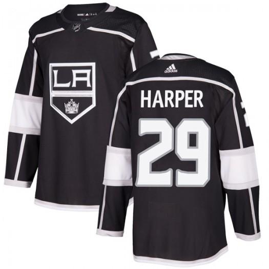 Shane Harper Los Angeles Kings Men's Adidas Authentic Black Home Jersey