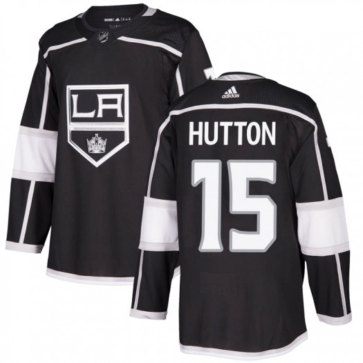 Ben Hutton Los Angeles Kings Men's Adidas Authentic Black Home Jersey