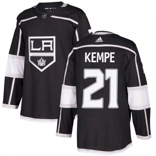 Mario Kempe Los Angeles Kings Men's Adidas Authentic Black Home Jersey