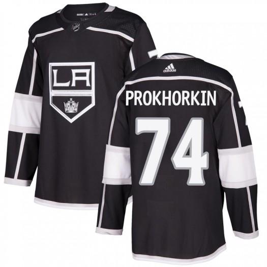 Nikolai Prokhorkin Los Angeles Kings Men's Adidas Authentic Black Home Jersey