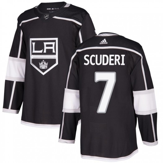Rob Scuderi Los Angeles Kings Men's Adidas Authentic Black Home Jersey