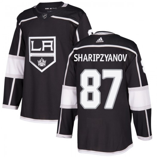 Damir Sharipzyanov Los Angeles Kings Men's Adidas Authentic Black Home Jersey