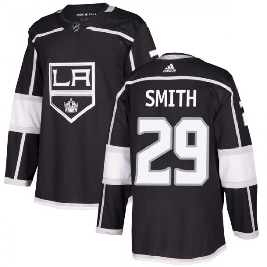 Billy Smith Los Angeles Kings Men's Adidas Authentic Black Home Jersey
