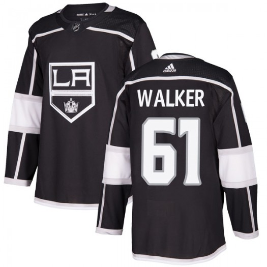 Sean Walker Los Angeles Kings Men's Adidas Authentic Black Home Jersey