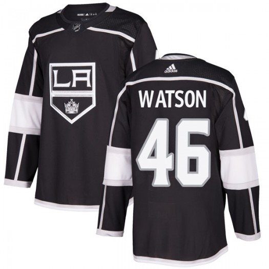 Spencer Watson Los Angeles Kings Men's Adidas Authentic Black Home Jersey