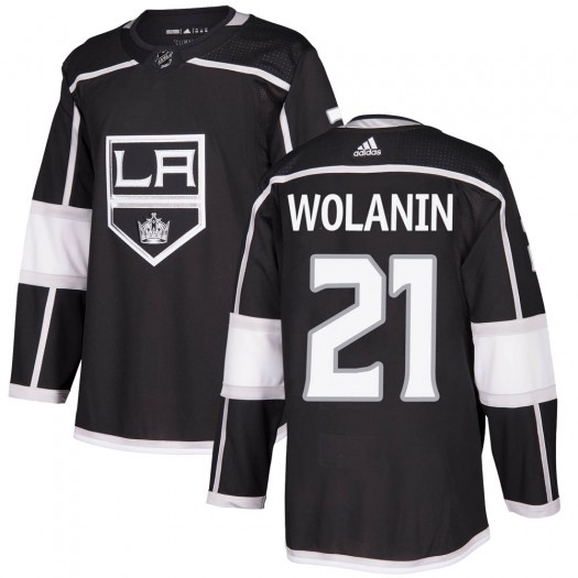 Christian Wolanin Los Angeles Kings Men's Adidas Authentic Black Home Jersey