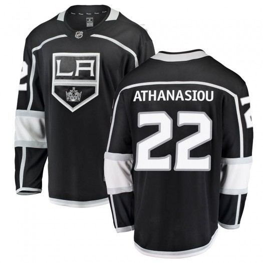 Andreas Athanasiou Los Angeles Kings Men's Fanatics Branded Black Breakaway Home Jersey