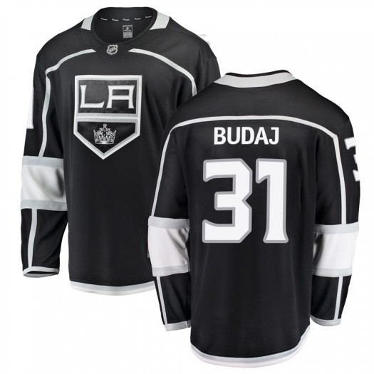 Peter Budaj Los Angeles Kings Men's Fanatics Branded Black Breakaway Home Jersey