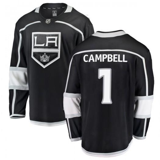 Jack Campbell Los Angeles Kings Men's Fanatics Branded Black Breakaway Home Jersey