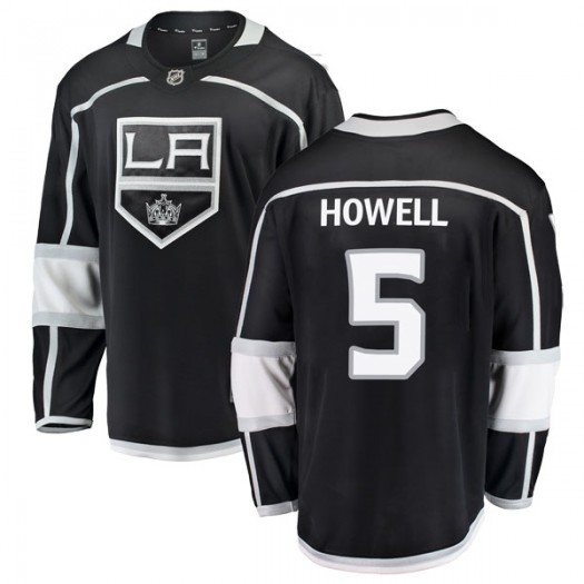 Harry Howell Los Angeles Kings Men's Fanatics Branded Black Breakaway Home Jersey