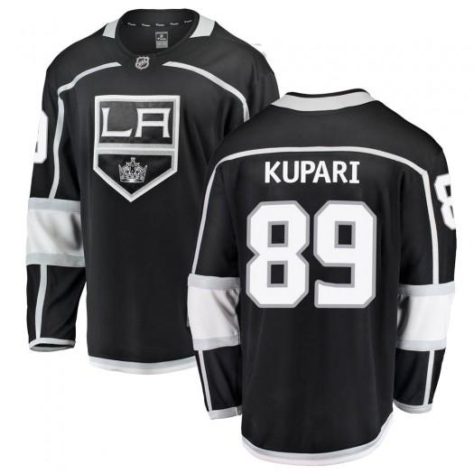 Rasmus Kupari Los Angeles Kings Men's Fanatics Branded Black Breakaway Home Jersey