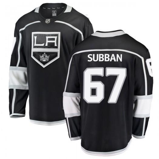 Jordan Subban Los Angeles Kings Men's Fanatics Branded Black Breakaway Home Jersey