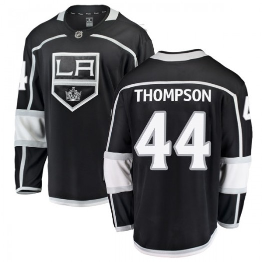 Nate Thompson Los Angeles Kings Men's Fanatics Branded Black Breakaway Home Jersey