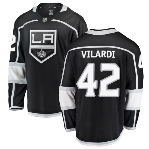 Gabriel Vilardi Los Angeles Kings Men's Fanatics Branded Black Breakaway Home Jersey