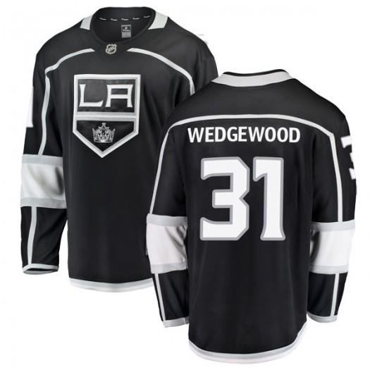 Scott Wedgewood Los Angeles Kings Men's Fanatics Branded Black Breakaway Home Jersey