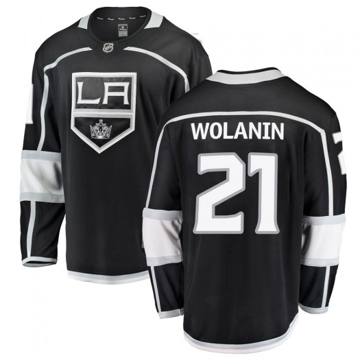 Christian Wolanin Los Angeles Kings Men's Fanatics Branded Black Breakaway Home Jersey