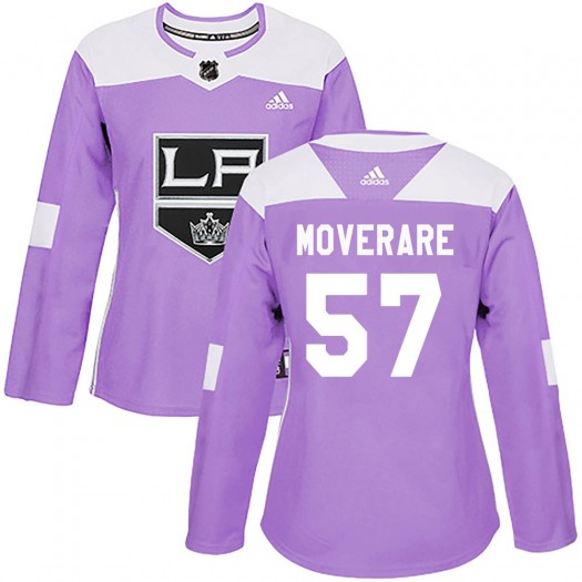 Jacob Moverare Los Angeles Kings Women's Adidas Authentic Purple Fights Cancer Practice Jersey