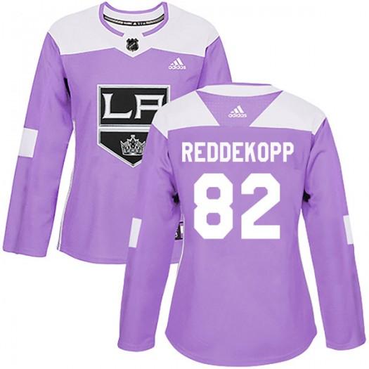 Chaz Reddekopp Los Angeles Kings Women's Adidas Authentic Purple Fights Cancer Practice Jersey