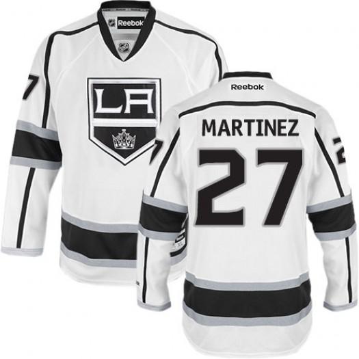 Alec Martinez Los Angeles Kings Men's Reebok Authentic White Away Jersey