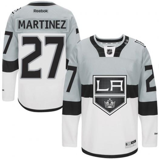 Alec Martinez Los Angeles Kings Men's Reebok Authentic White /Grey 2015 Stadium Series Jersey